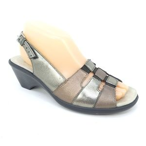 Hotter Mango Leather Open Toe Comfort Sandals